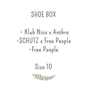 Shoe box, SCHUTZ, Anthro , Jeffrey Campbell